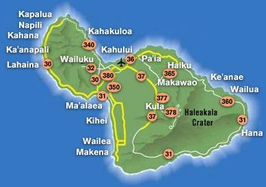 Harta Insula Maui
