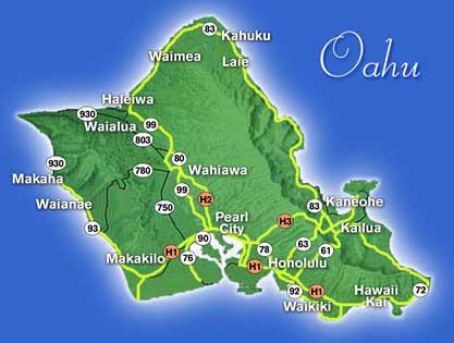 Harta Insula Oahu