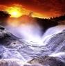 Apus de soare la cascada Murchison